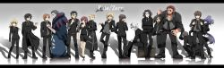 assassin_(fate/zero) berserker_(fate/zero) caster_(fate/zero) emiya_kiritsugu everyone fate/zero fate_(series) formal gilgamesh highres irisviel_von_einzbern kayneth_archibald_el-melloi kotomine_kirei lancer_(fate/zero) matou_kariya rider_(fate/zero) saber sakura_(lilak_a) suit tohsaka_tokiomi uryuu_ryuunosuke waver_velvet