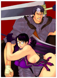 artist_request berserk breasts cattleya crossover fall_sister glasses guts huge_weapon large_breasts queen's_blade sword weapon