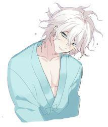 1boy danganronpa hospital_gown komaeda_nagito male_focus super_danganronpa_2 unagi_(515816703) white_hair