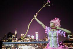 bow cosplay kaname_madoka lana_rain magical_girl mahou_shoujo_madoka_magica photo skyline