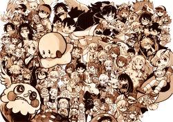 6+boys 6+girls absolutely_everyone anjou_naruko ano_hi_mita_hana_no_namae_wo_bokutachi_wa_mada_shiranai. ao_no_exorcist axew cape character_request charizard charlotte_(madoka_magica) copyright_request darkrai dual_persona everyone gintama hatsune_miku hisakawa_tetsudou honma_meiko inuyasha iris_(pokemon) kagamine_len kagamine_rin kirby kyubey mahou_shoujo_madoka_magica meta_knight mew monochrome multiple_boys multiple_girls n_(pokemon) naruto okumura_rin panty_&_stocking_with_garterbelt panty_(psg) pikachu pokemon red_(pokemon) red_(pokemon)_(classic) reiuji_utsuho sakata_kaname satoshi_(pokemon) sepia sesshoumaru shiki_eiki smile sophie_(tales) sparkle star stocking_(psg) tagme tales_of_(series) tales_of_graces tiger_&_bunny touhou uchiha_itachi uchiha_sasuke vocaloid wriggle_nightbug yadomi_jinta zoroark