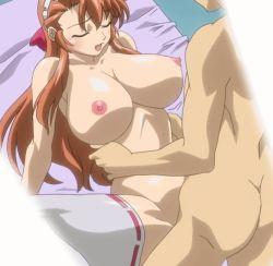 1girl animated animated_gif bakunyuu_maid_gari bouncing_breasts breasts happy_sex huge_breasts maid maid_headdress miori_ai missionary mogudan penis pussy qvga saliva sex smile stitched toned vaginal