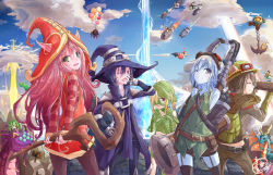 2boys 6+girls amumu anchor balloon bandage baron_nashor belt black_legwear blue_eyes blue_hair blue_skin blush cannon cloud dragon elise_(league_of_legends) explosion garter_straps genderswap green_eyes hat helmet highres jinx_(league_of_legends) kurokitsune_(float0108) laser league_of_legends long_hair lulu_(league_of_legends) multiple_boys multiple_girls nami_(league_of_legends) nautilus_(league_of_legends) one_eye_closed pantheon_(league_of_legends) pants pantyhose pink_hair pointy_ears polearm poppy poro_(league_of_legends) purple_hair rocket short_hair shyvana sign spear spider staff stretch teemo thighhighs tristana veigar vi_(league_of_legends) weapon yawning yellow_eyes zac