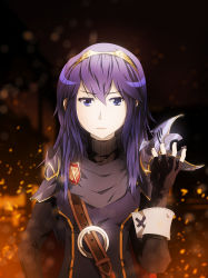 1girl blue_eyes blue_hair breasts fire_emblem fire_emblem:_kakusei long_hair lucina mask nintendo