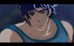 1boy blue_eyes blue_hair imamoko jojo_no_kimyou_na_bouken jonathan_joestar letterboxed solo