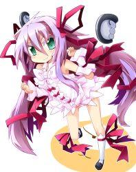 1girl al_azif demonbane green_eyes long_hair purple_hair reku solo