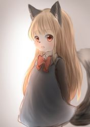 akuma_gaoru artist_request blonde_hair furry open_mouth red_eyes wolf