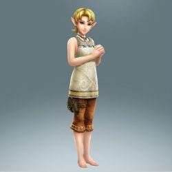 alternate_costume barefoot ilia ilia_(cosplay) official_art princess_zelda the_legend_of_zelda twilight_princess zelda_musou