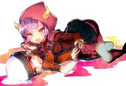 1boy 1girl artist_request female hetero kagari_(pokemon) kagari_(pokemon)_(remake) lying nintendo pokemon uniform yuuki_(pokemon)