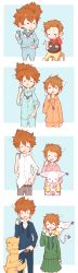 1boy 1girl 4koma absurdres age_progression brother_and_sister character_request comic commentary digimon highres siblings silent_comic stitched tagme veebu yagami_hikari yagami_taichi