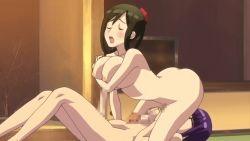 2girls animated animated_gif ass ass_shake breasts butt_crack chie_(futabu) futa_with_futa futabu futanari huge_penis large_breasts multiple_girls nipples oohashi_sumika paizuri penis