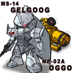 character_name chibi gelgoog gun gundam gundam_ms_igloo hokke mecha oggo shield skull weapon