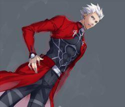 1boy archer fate/stay_night fate_(series) nakagawa_waka solo white_hair