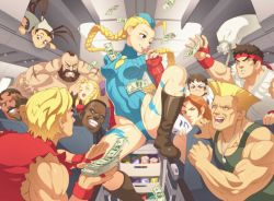 4girls 6+boys :d ;) ^_^ ahoge airplane airplane_interior antenna_hair arm_behind_back balrog bandanna beard black_hair blonde_hair blue_eyes blush boots bow braid breasts brown_eyes brown_hair cammy_white can cart ceiling condom condom_in_mouth condom_wrapper dark_skin dee_jay deejay dog_tags dougi drink dudley erect_nipples erotibot everyone eyes_closed facial_hair fingerless_gloves floating_hair garrison_cap gloves grin guile hair_bow hand_on_another's_face hat headband highleg highleg_leotard holding ibuki_(street_fighter) jewelry kanzuki_karin kasugano_sakura ken_masters knee_boots knee_up leotard lightning_bolt long_hair looking_at_another m_bison mask mask_removed mohawk money mouth_hold multiple_boys multiple_girls muscle mustache naughty_face necklace necktie one_eye_closed open_mouth orange_hair partially_visible_vulva prostitution pushing ringlets ryuu_(street_fighter) sack scar short_hair sitting sleeveless small_breasts smile soda solo_focus spread_legs street_fighter street_fighter_iii street_fighter_zero tank_top tattoo thong_leotard torn_clothes turtleneck twin_braids vambraces very_long_hair wince zangief