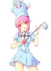 1girl absurdres frills hat highres jakuzure_nonon kill_la_kill pink_eyes pink_hair sayuringo shako_cap skull solo