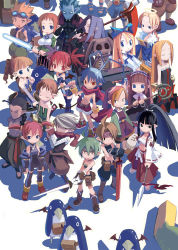6+boys 6+girls ahoge antenna_hair archer_(disgaea) backpack bag bandanna beltbra black_eyes black_hair black_legwear blonde_hair blue_eyes boots bow bra bracelet braid brown_hair creature detached_sleeves disgaea dress drill_hair earrings energy_sword etna eyes_closed female_angel_(disgaea) female_brawler_(disgaea) female_warrior_(disgaea) flat_gaze flonne goggles goggles_on_head green_hair hair_bow hairband halo harada_takehito headband healer_(disgaea) japanese_clothes jewelry kimono knee_boots laharl lightsaber long_hair mage_(disgaea) magic_knight_(disgaea) majin_(disgaea) makai_senki_disgaea male_brawler_(disgaea) male_healer_(disgaea) male_warrior_(disgaea) mid-boss_(disgaea) multiple_boys multiple_girls ninja_(disgaea) official_art pants pointy_ears ponytail prinny purple_hair red_eyes red_hair ronin_(disgaea) scarf scout_(disgaea) scythe shirtless short_hair shorts skull_(disgaea) smile spiked_hair staff standing strapless_dress sword thief_(disgaea) thighhighs twin_drills twintails underwear weapon white_background