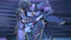 3d 3girls anal animated animated_gif bouncing_breasts breasts double_penetration ember_(warframe) futanari held_up multiple_girls nova_(warframe) saryn_(warframe) suit vaginal warframe wattchewant