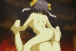 2girls animated animated_gif bouncing_breasts breasts daiakuji futa_with_female futanari moaning multiple_girls nipples nude penis pussy uncensored