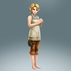 1girl 3d alternate_costume barefoot blonde_hair blue_eyes feet highres ilia ilia_(cosplay) princess_zelda short_hair the_legend_of_zelda twilight_princess zelda_musou
