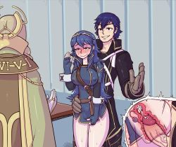 2015 2girls alternate_breast_size blue_eyes blue_hair blush breasts cum cum_in_pussy emerina father_and_daughter fingerless_gloves fire_emblem fire_emblem:_kakusei gloves hetero incest internal_cumshot krom large_breasts long_hair lucina multiple_girls penis pussy_juice sex short_hair stealth_sex tears tenk thetenk tiara uncensored vaginal_penetration x-ray