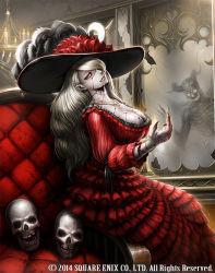blood dress mirror original skull vampire