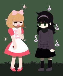 2girls crossover fairy_tale_girl_(pokemon) hex_maniac_(pokemon) kuroki_tomoko lowres multiple_girls naruse_yuu npc_trainer pokemon watashi_ga_motenai_no_wa_dou_kangaetemo_omaera_ga_warui!