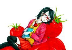 book eyes_closed naruto tomato uchiha_sarada