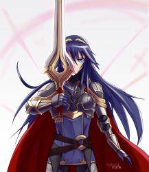 1girl blue_eyes blue_hair fire_emblem fire_emblem:_kakusei lucina nintendo sword