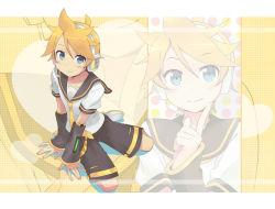 1boy child kagamine_len male pp_(ki20rupi3) shorts smile solo tagme vocaloid