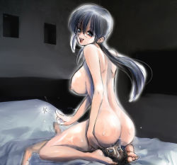 1boy 1girl 407_(artist) 69 age_difference ass bed breasts censored cunnilingus erection femdom glasses hetero indoors large_breasts little_penis long_hair looking_at_viewer milf mosaic_censoring nude oral penis pussy_juice shota sitting sitting_on_face sitting_on_person small_penis smother straight_shota