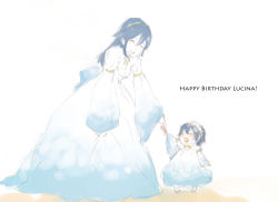 2girls blue_hair breasts eyes_closed fire_emblem fire_emblem:_kakusei lucina multiple_girls nintendo smile