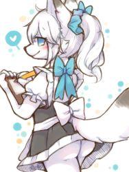 artist_request blue_eyes fox furry maid short_hair