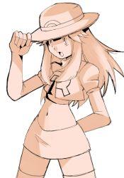 blue_(pokemon) blue_(pokemon)_(remake) cosplay hainchu navel pokemon pokemon_frlg team_rocket team_rocket_(cosplay)