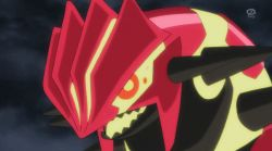 animated animated_gif charizard groudon mega_pokemon no_humans pokemon pokemon_(anime) primal_groudon