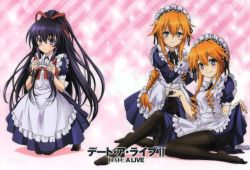 3girls absurdres date_a_live highres long_hair multiple_girls smile yamai_kaguya yamai_yuzuru yatogami_tooka