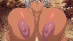 animated animated_gif areolae blue_eyes blush breast_grab breast_press breast_squeeze breasts buta_no_gotoki_sanzoku_ni_torawarete_shojo_o_ubawareru_kyonyuu_himekishi_&_onna_senshi:_zettai_chinpo_nanka_ni_maketari_shinai!!_the_animation censored erect_nipples erectlip gigantic_breasts helga_(buta_no_gotoki) nipples nude paizuri penis rape sex