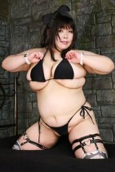 1girl asian black_hair bow breasts fat huge_breasts luu_(cosplayer) photo