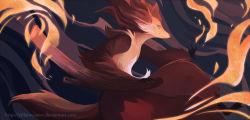 delphox fire no_humans pokemon stick
