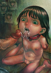 1boy 1girl age_difference amputee bdsm censored cum facial loli nude open_mouth oral original outside penis poster pussy yutazo_028