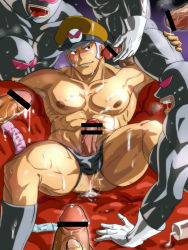 6+boys abs anus ass bara body_hair cum cum_on_bod cumdrip drooling erection gangbang group_sex ha happinesscharge_precure! happy_sex hat male_focus multiple_boys muscle open_mouth oresky orgy pecs penis penis_grab precure saliva smile tagme testicles tongue tongue_out yaoi