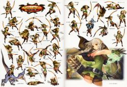 1girl animal arrow ass attack beast belt blonde_hair boots bow_(weapon) braid brown_eyes cloak coiled concept_art crouching dragon's_crown elf elf_(dragon's_crown) falling female forest gloves grey_hair helpless highres holding holding_weapon hood injury japanese jumping kick laying long_hair official_art pointy_ears poses quiver riding running shorts simple_background sliding snake snake_bondage solo standing tagme thigh_boots thighhighs trees twin_braids vanillaware walking weapon white_background
