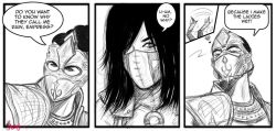 1boy 1girl comic jassy long_hair mask mileena mortal_kombat mortal_kombat_x rain_(mortal_kombat)