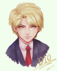1boy dio_brando highmore2159 jojo_no_kimyou_na_bouken solo yellow_eyes younger