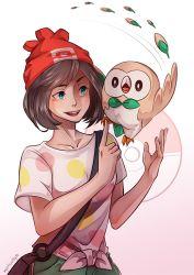 1girl animal bird pokemon solo