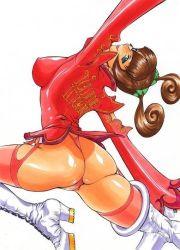 1girl ass brown_hair june_lin_milliam star_gladiator