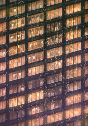 blinds building monitor office original seo_tatsuya skyscraper snow snowing window