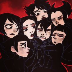black_hair character_request family multiple_girls samurai_jack sisters tagme