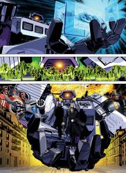 cane cannon city coat crossover decepticon dna formal gatling_gun gun hands highres hologram leonardo_da_vinci mecha parody realistic robot russian science_fiction shockwave_(transformers) starscream suit the_fallen transformers vladimir_putin weapon