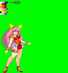 animated animated_gif hanasaki_momoko jyb long_hair m.u.g.e.n pink_hair ribbon very_long_hair wedding_peach