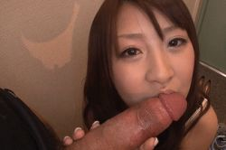 1boy 1girl animated animated_gif asian fellatio licking oral penis photo pov tongue uncensored